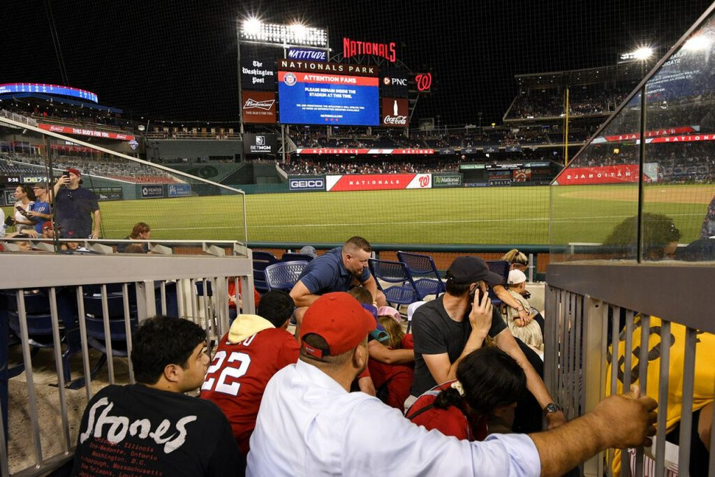 Nationals-Padres game stopped